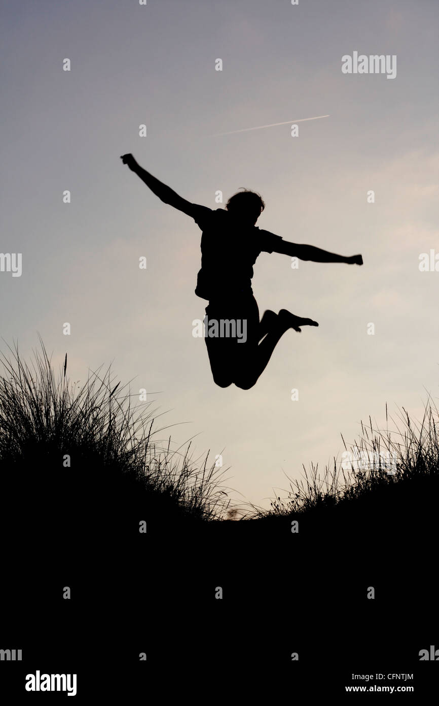 Un hombre disfruta de éxito Imagen De Stock