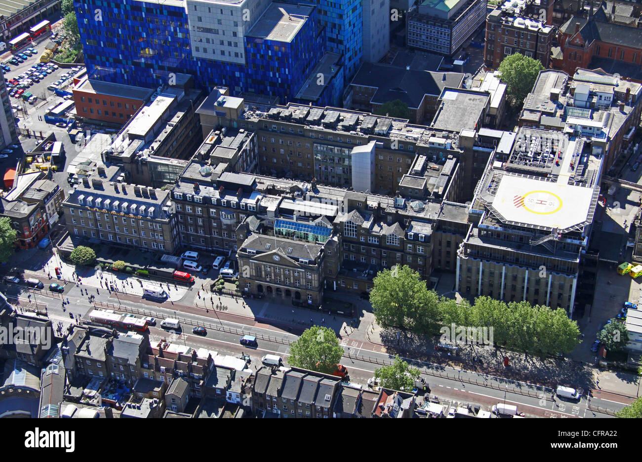 Vista aérea de la Royal Hospital de Londres Imagen De Stock