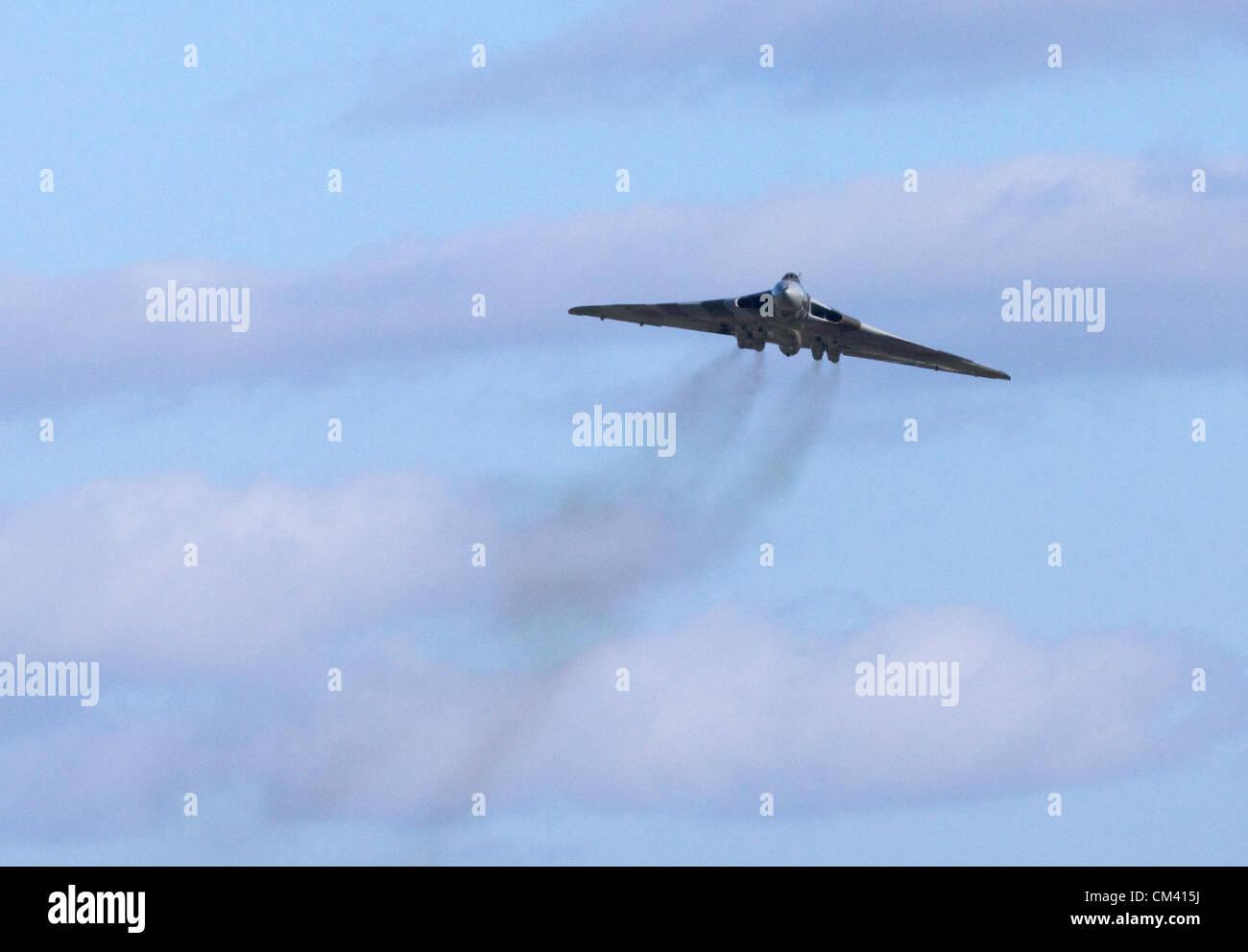 Bristol, Reino Unido. Restaurado Bombardero Vulcan XH558 hace un aeródromo flypast en Filton Bristol el 29 Imagen De Stock
