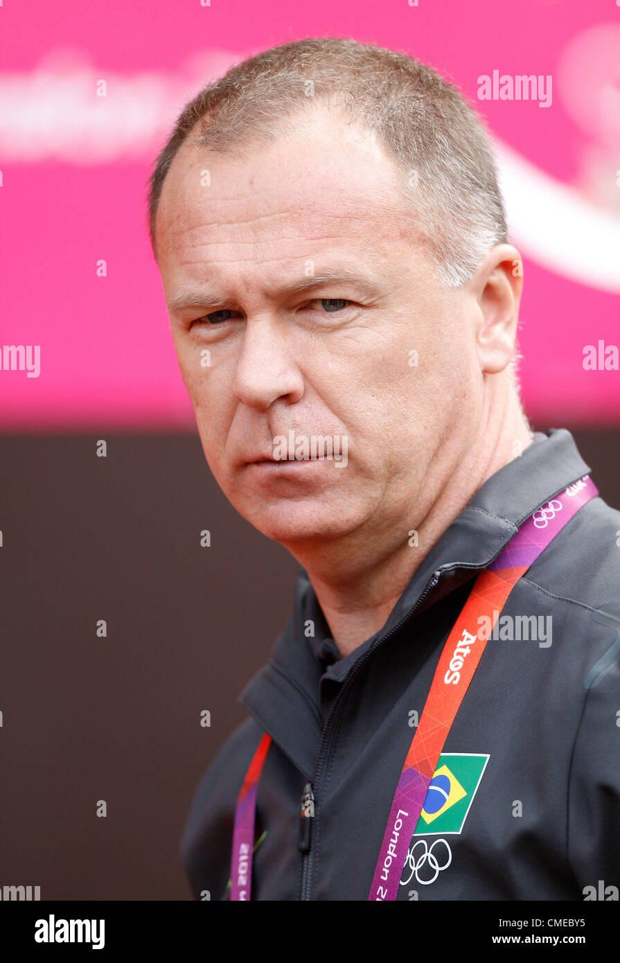 MANO MENEZES (coach) Brasil, Old Trafford, Manchester, Inglaterra el 29 de julio de 2012 Imagen De Stock