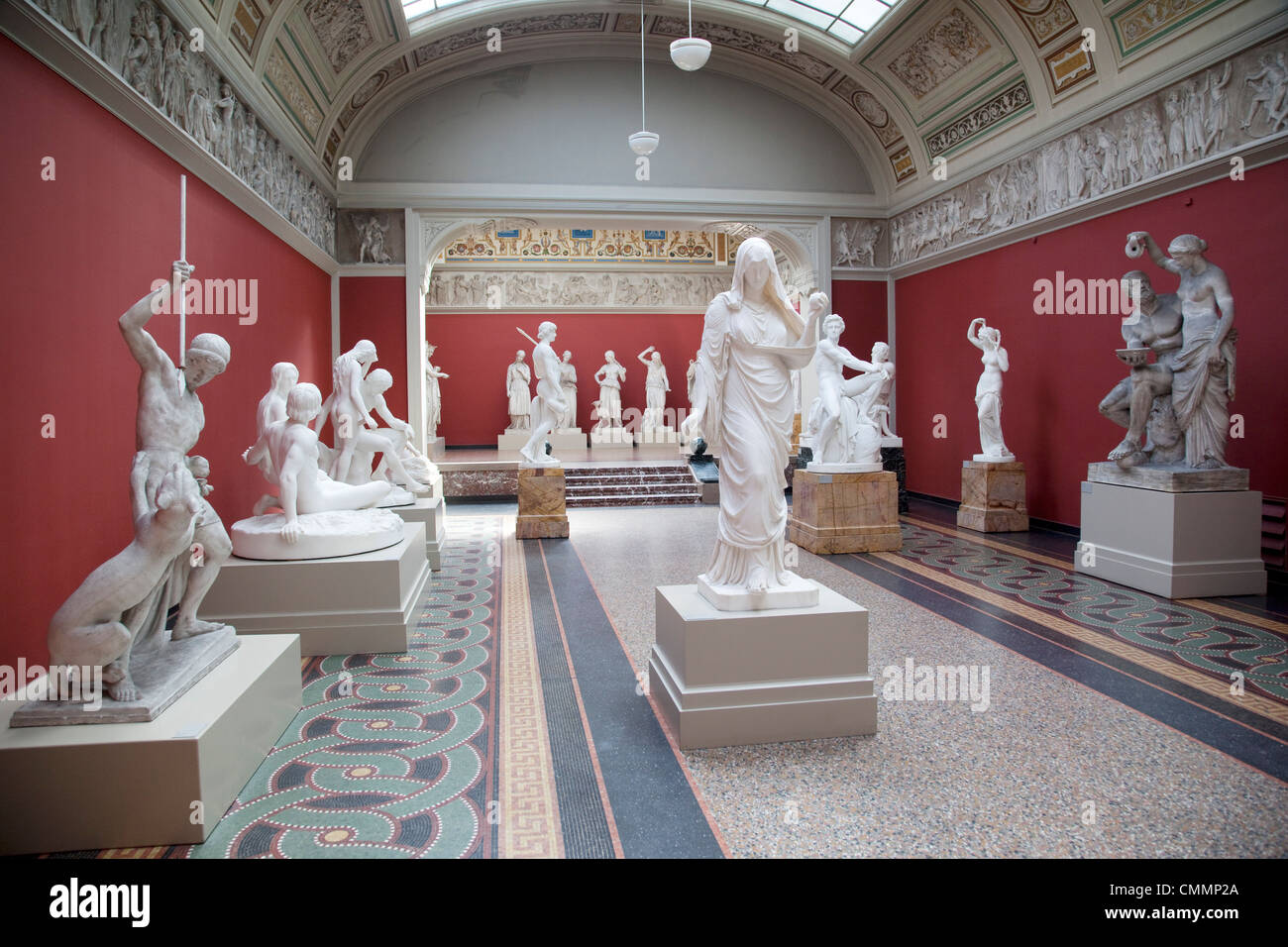 Interior, NY Carlesberg Glyptotek Art Museum, Copenhague, Dinamarca, Escandinavia, Europa Foto de stock