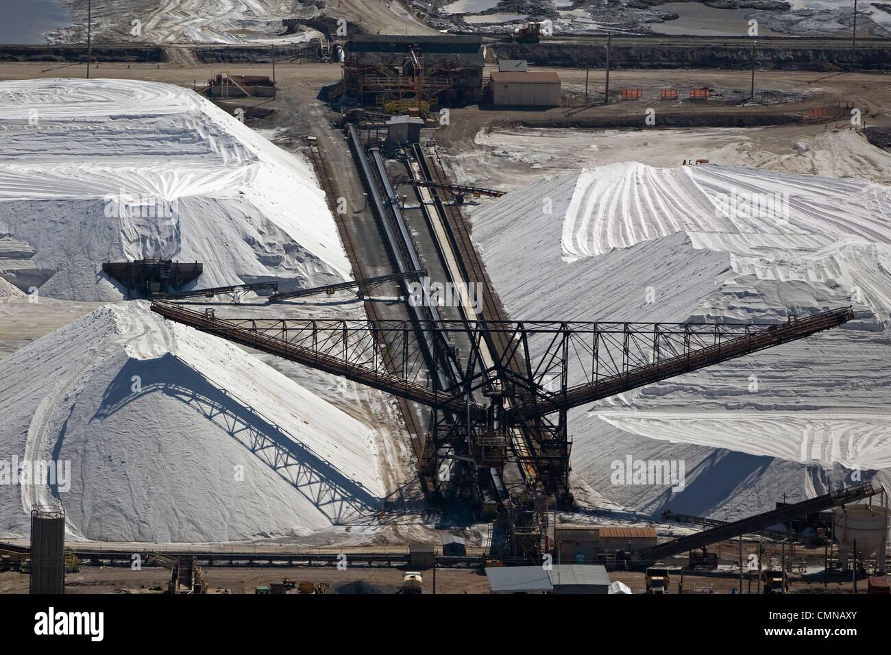 Fotografía aérea montones de sal Newark, California Imagen De Stock