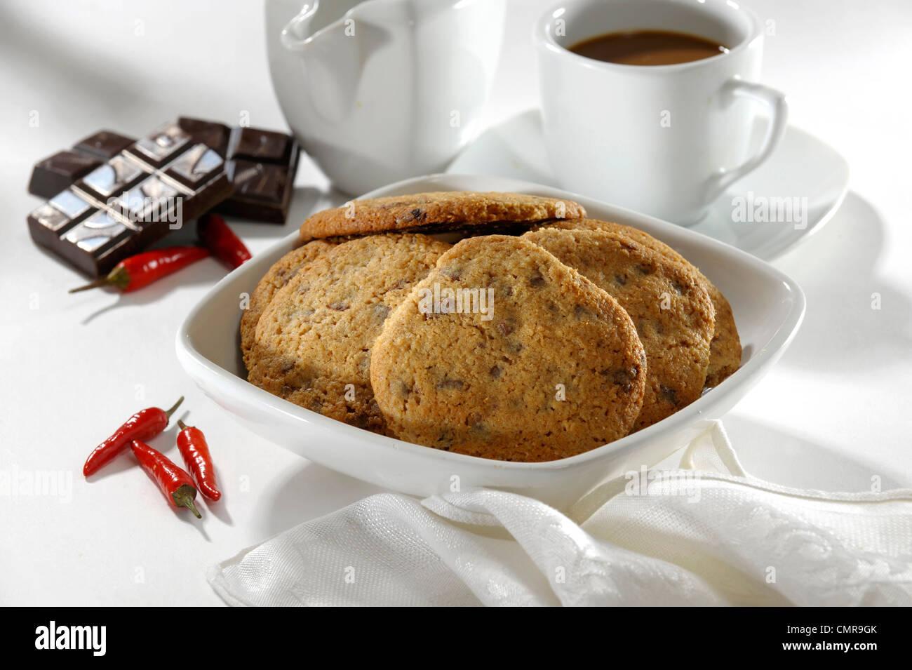 Chili chocolate cookie Imagen De Stock