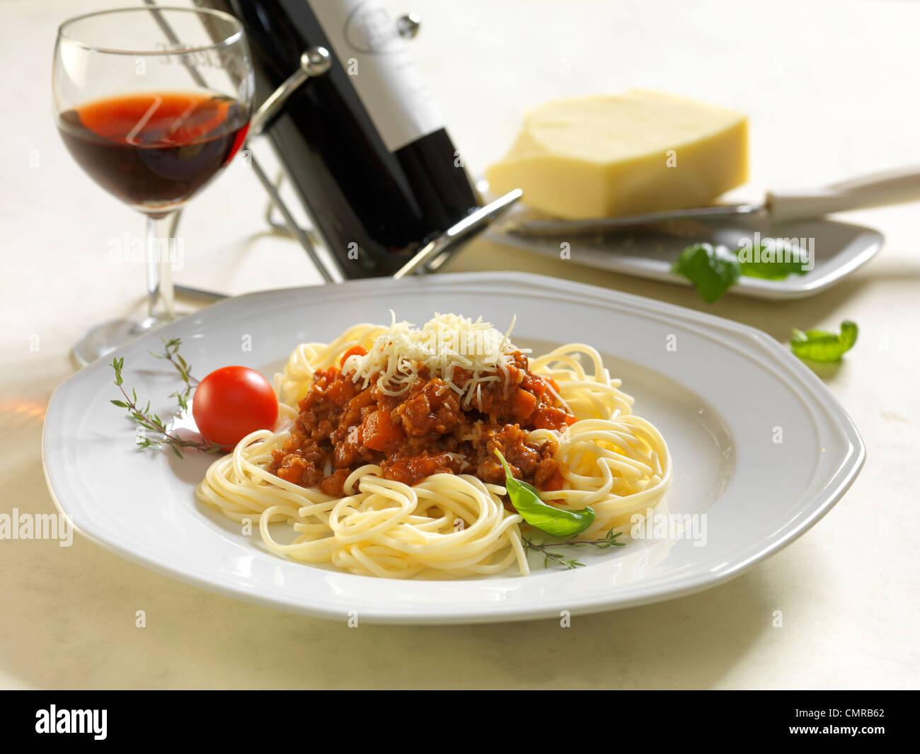 Espaguetis Bolognase Imagen De Stock