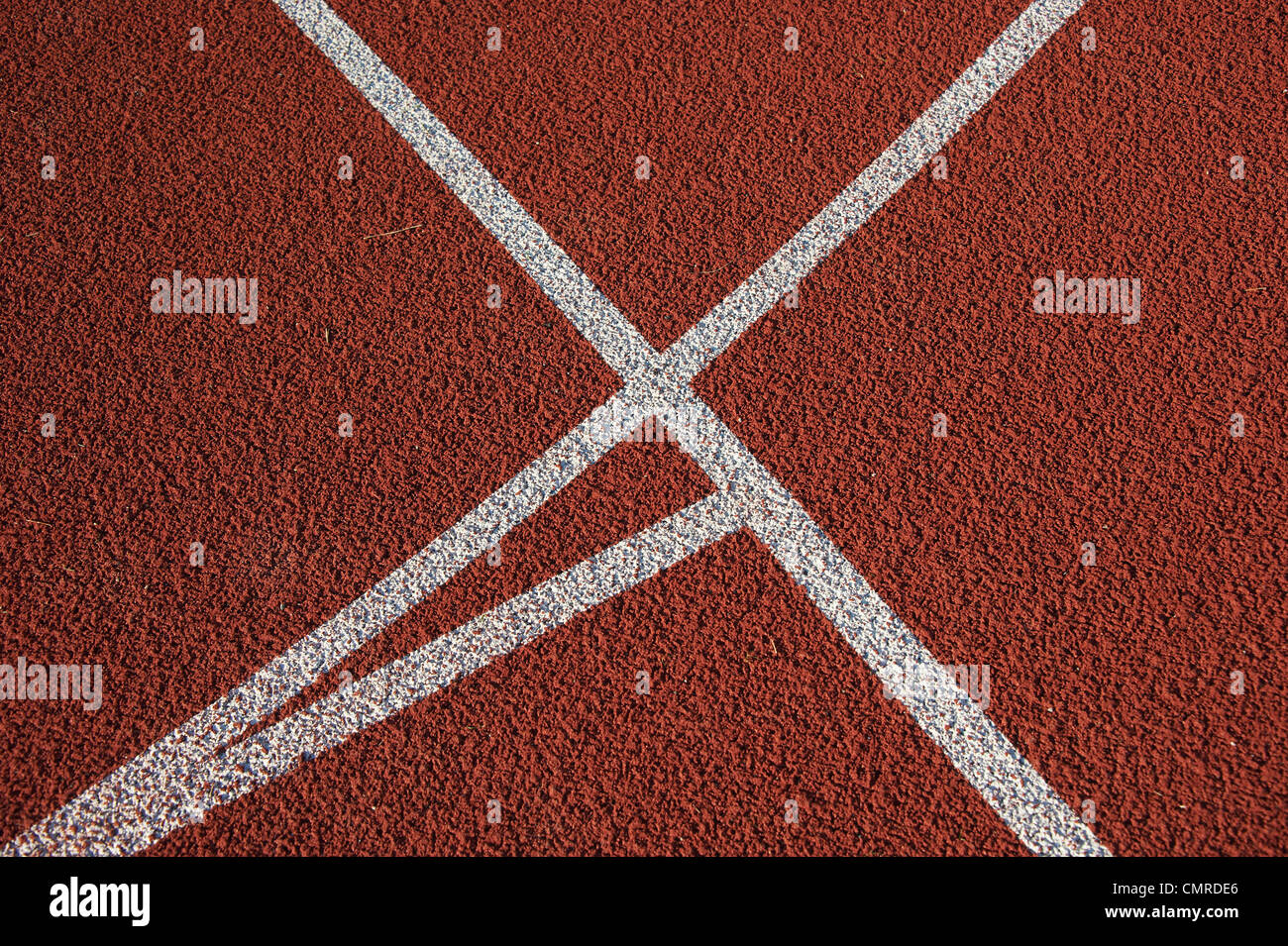 Pista de Atletismo en el estadio Imagen De Stock