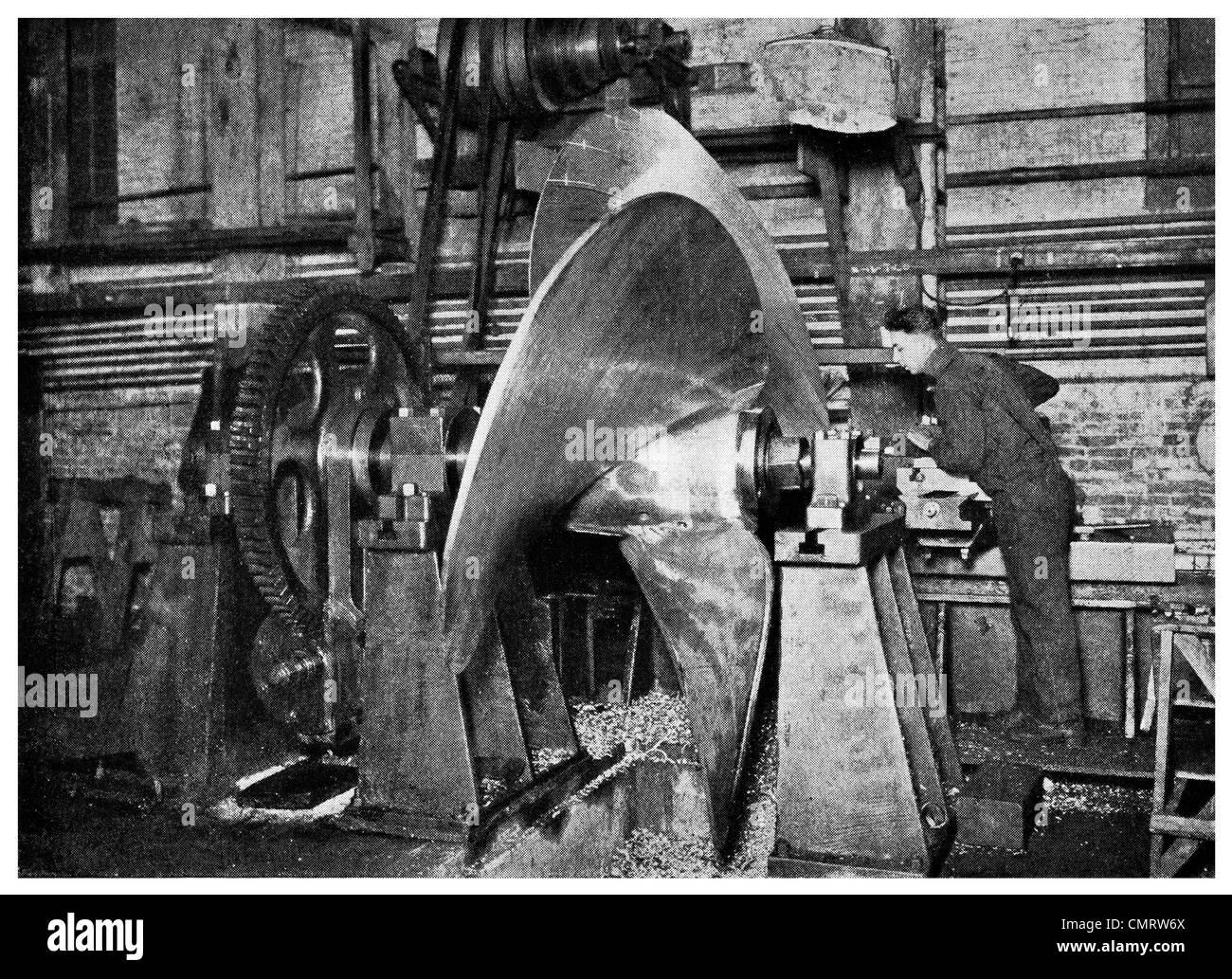 1918 Fabricación de la máquina propulsora del buque tienda Isla Hog Hog Island Philadelphia, Pennsylvania, Imagen De Stock