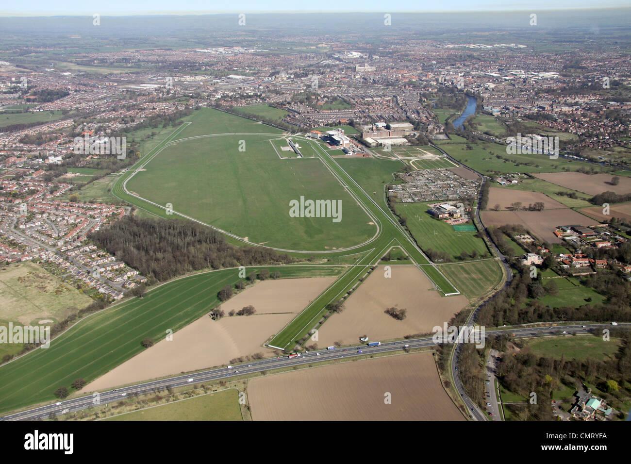 Vista aérea de York Racecourse Imagen De Stock