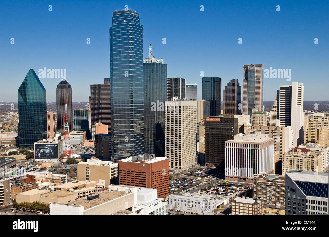 Dallas, Texas - El Skyline Foto de stock