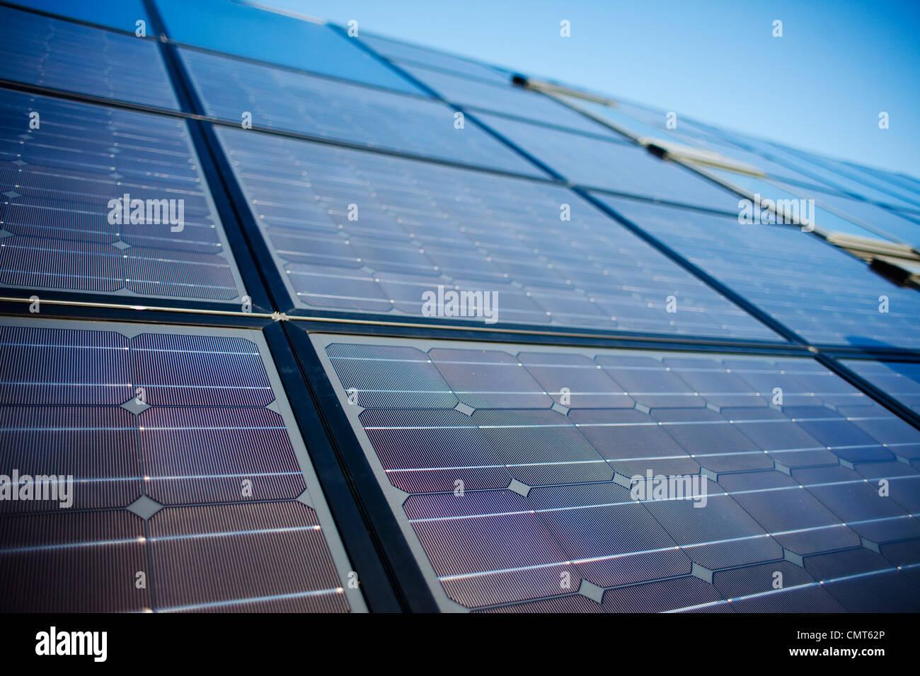 Cierre de panel solar grande Imagen De Stock