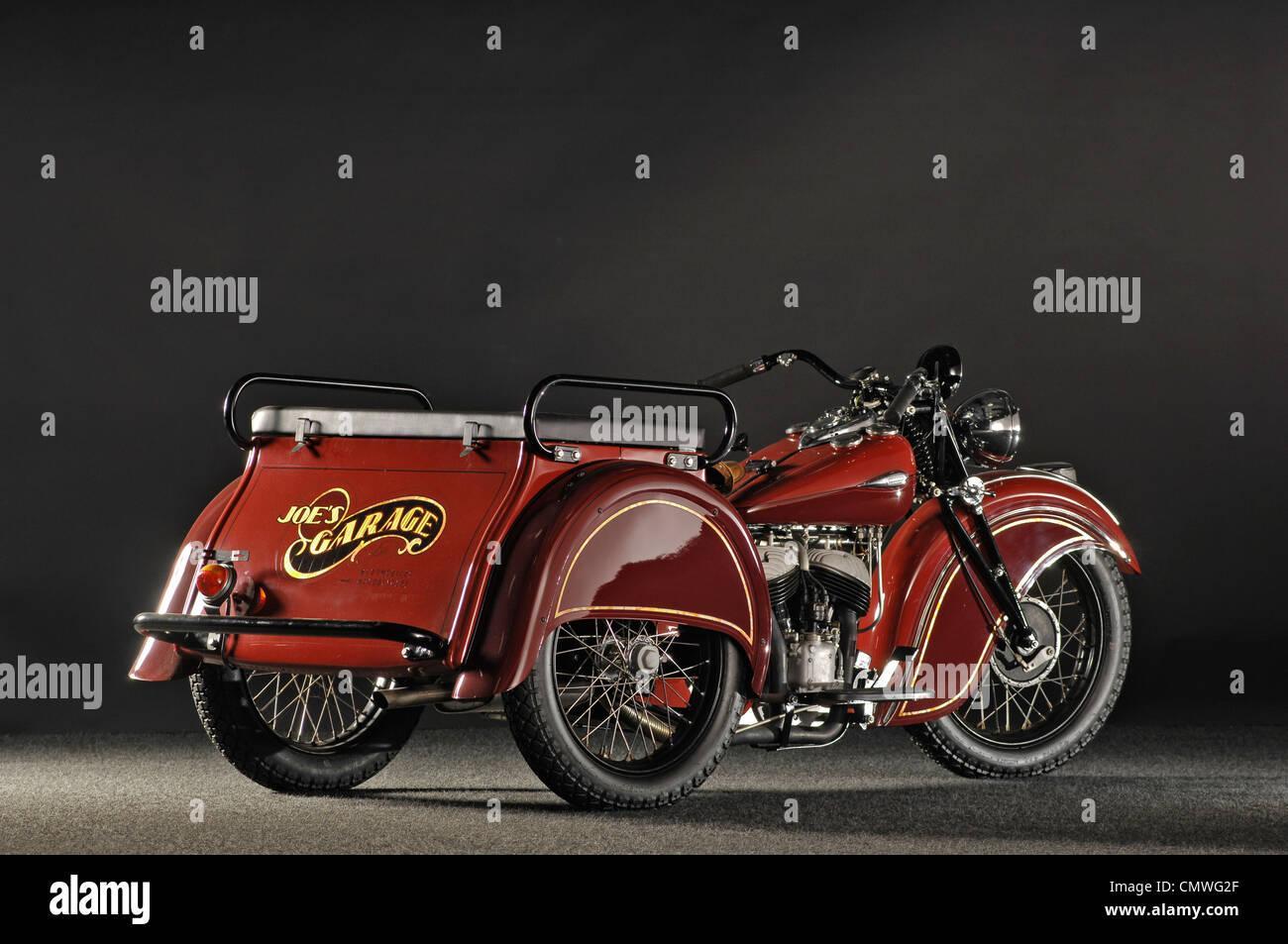 1940 despacho indio remolcar 3 wheeler Foto de stock