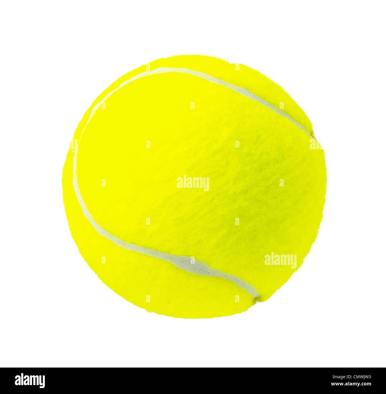Pelota de Tenis amarillo Foto de stock