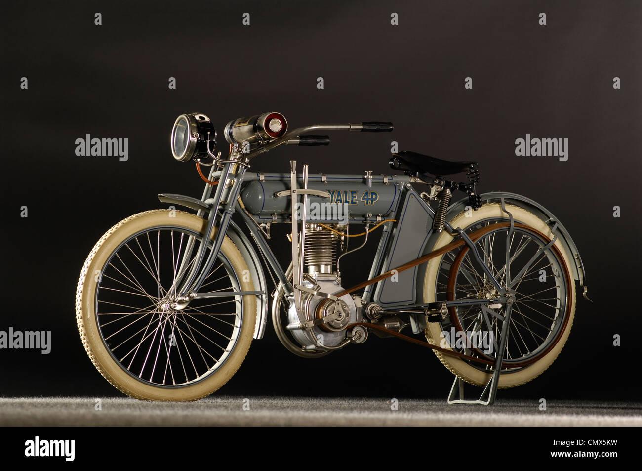 1912 Yale 4hp motocicleta Foto de stock