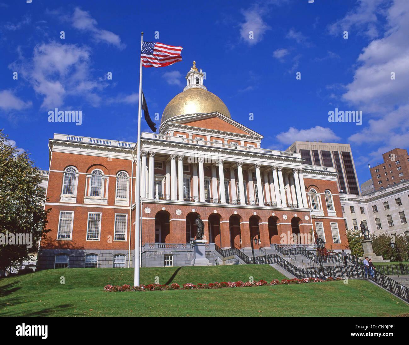 Nueva casa de Estado, Beacon Hill, Boston, Massachusetts, Estados Unidos de América Imagen De Stock