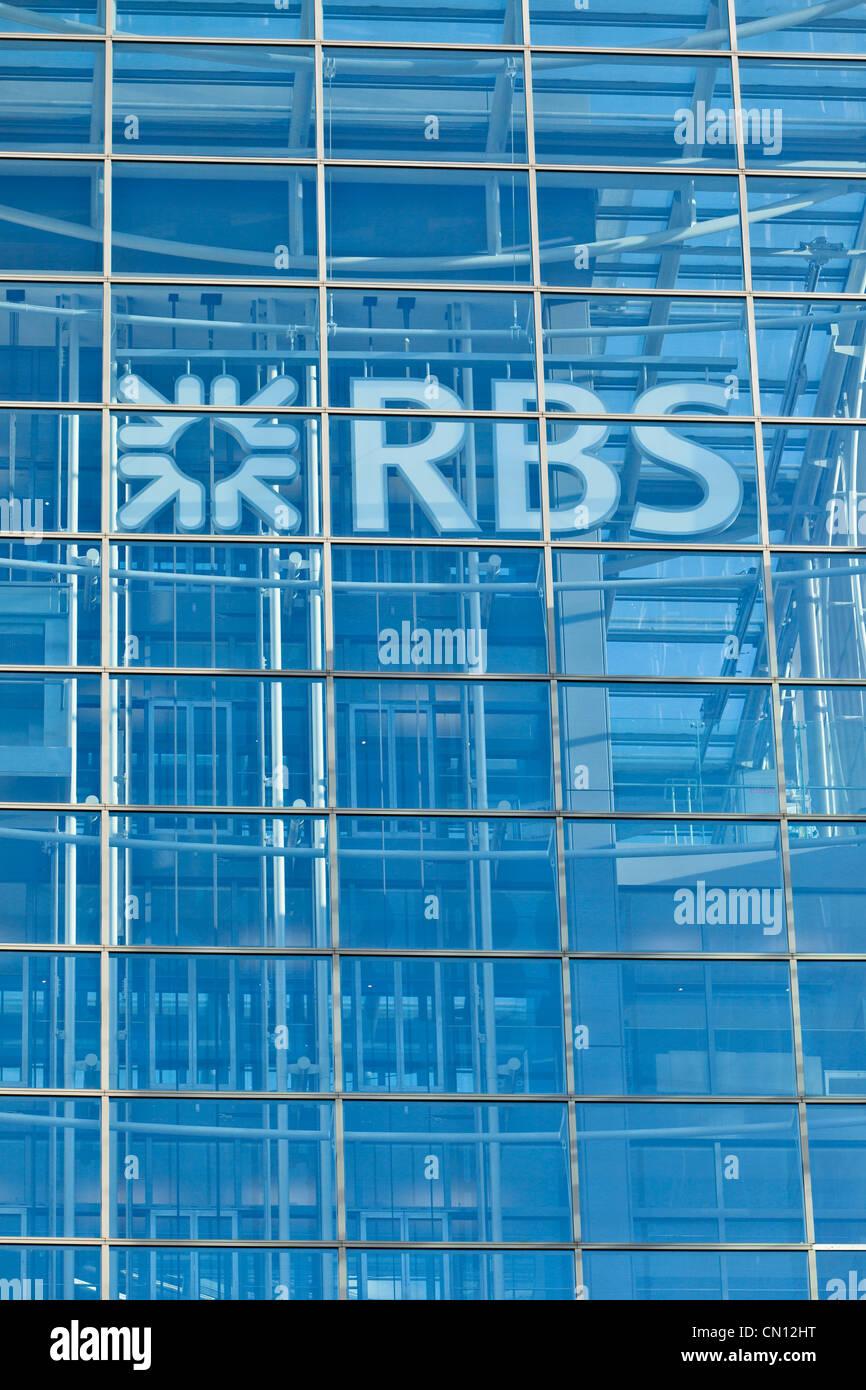 Royal Bank of Scotland RBS en la ciudad de Londres. Imagen De Stock