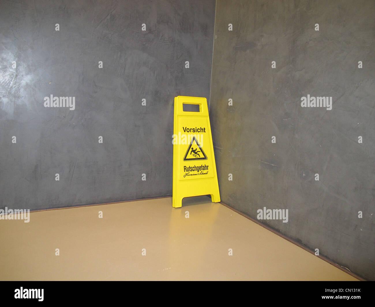Señal de advertencia resbaladizas Imagen De Stock