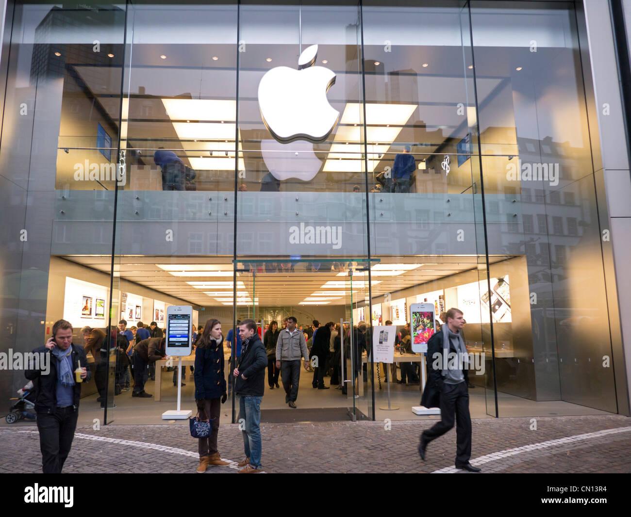Apple Store en Frankfurt Alemania Imagen De Stock