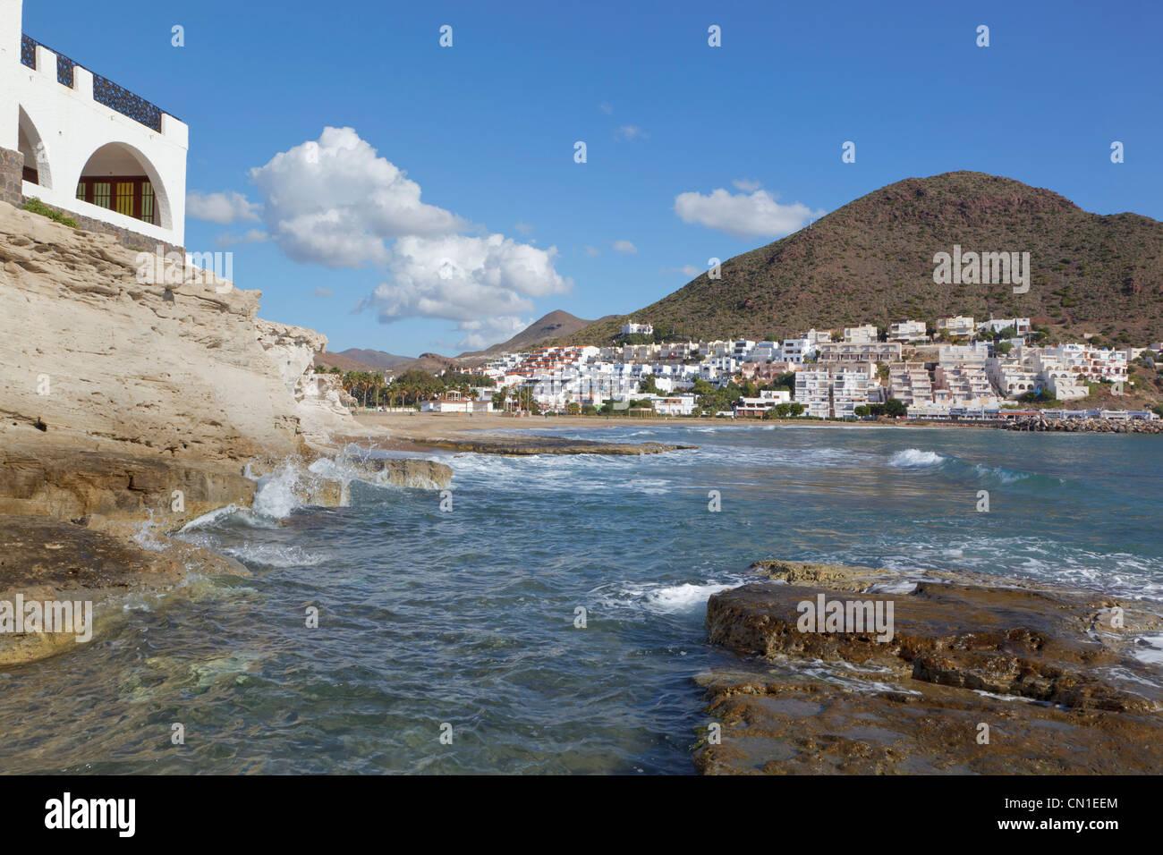 San Jose, el Parque Natural de Cabo de Gata-Níjar, provincia de Almería, España. Imagen De Stock