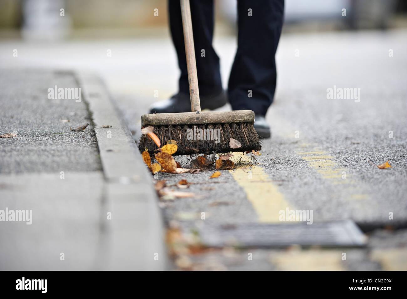 Barrendero de calle Imagen De Stock