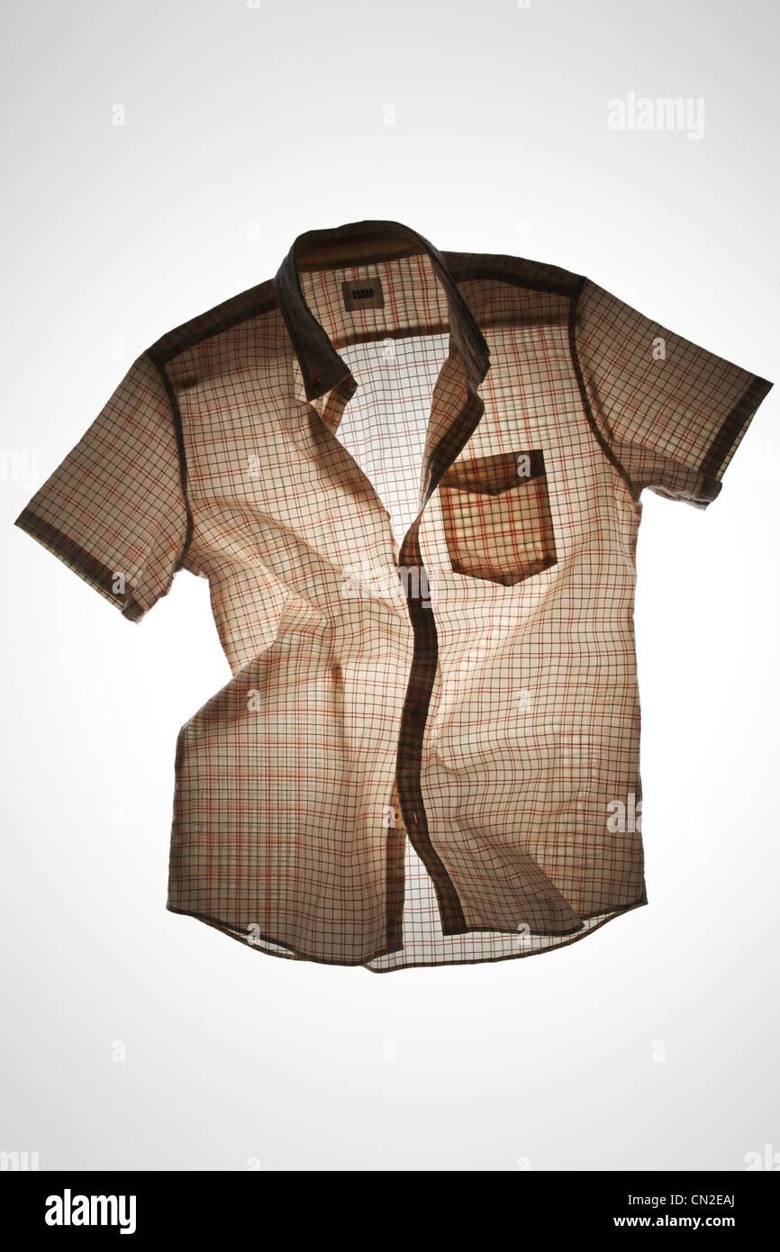 El Plaid Short-Sleeve camiseta Imagen De Stock