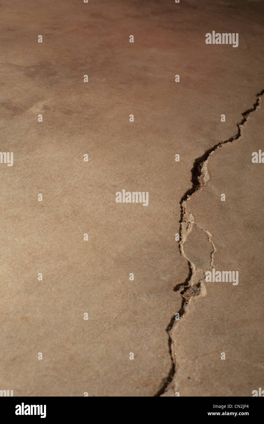 El cemento agrietado Imagen De Stock