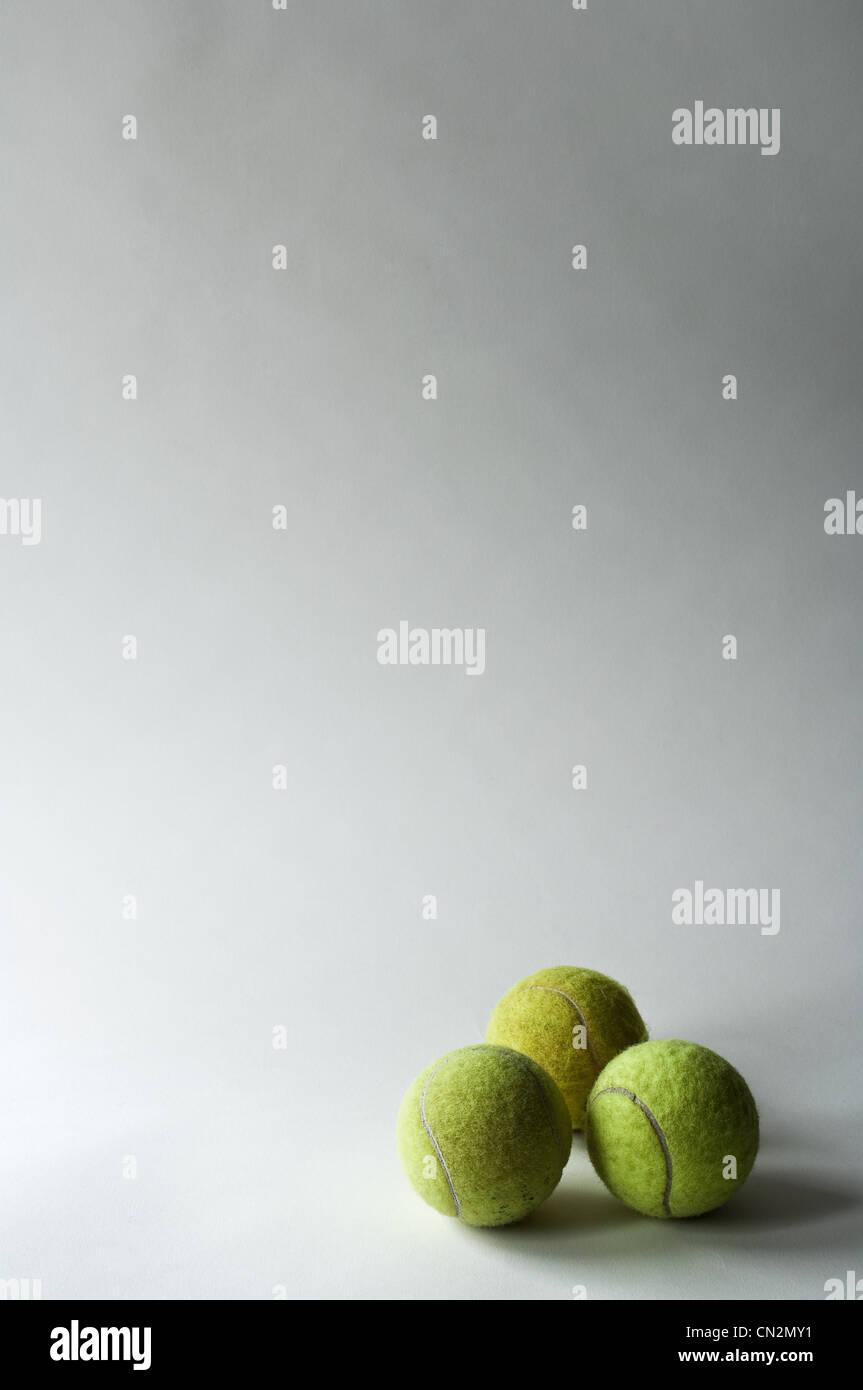 Tres pelotas de tenis, Foto de estudio Imagen De Stock