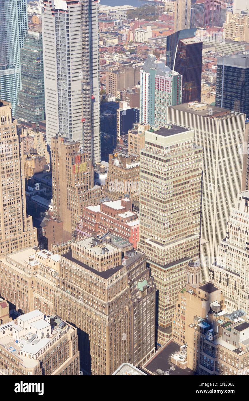 Ciudad de Nueva York desde arriba Imagen De Stock