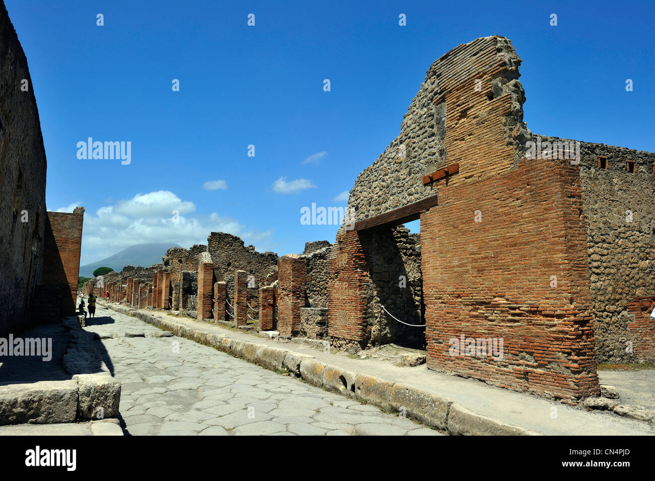 Italia, Campania, Pompei, sitio arqueológico catalogado como Patrimonio de la Humanidad por la UNESCO Foto de stock