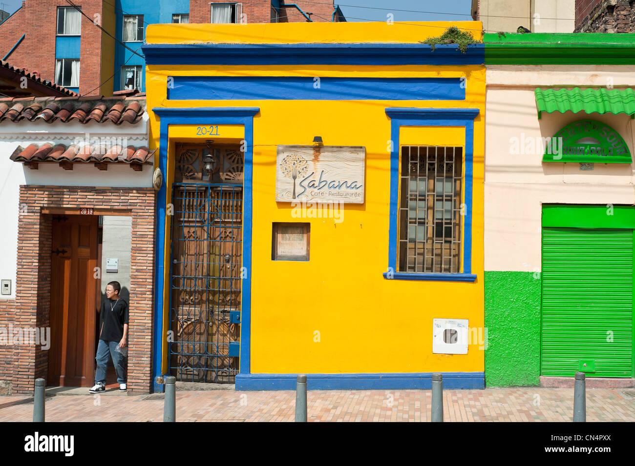 El departamento de Cundinamarca, Colombia, Bogotá, Distrito de La Candelaria Imagen De Stock