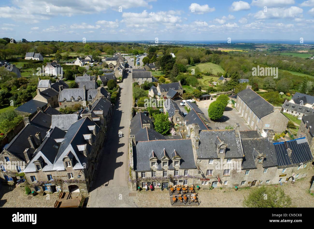Francia, Finisterre, Locronan, etiquetados Les Plus Beaux aldeas de France (Los pueblos más bellos de Francia). Foto de stock