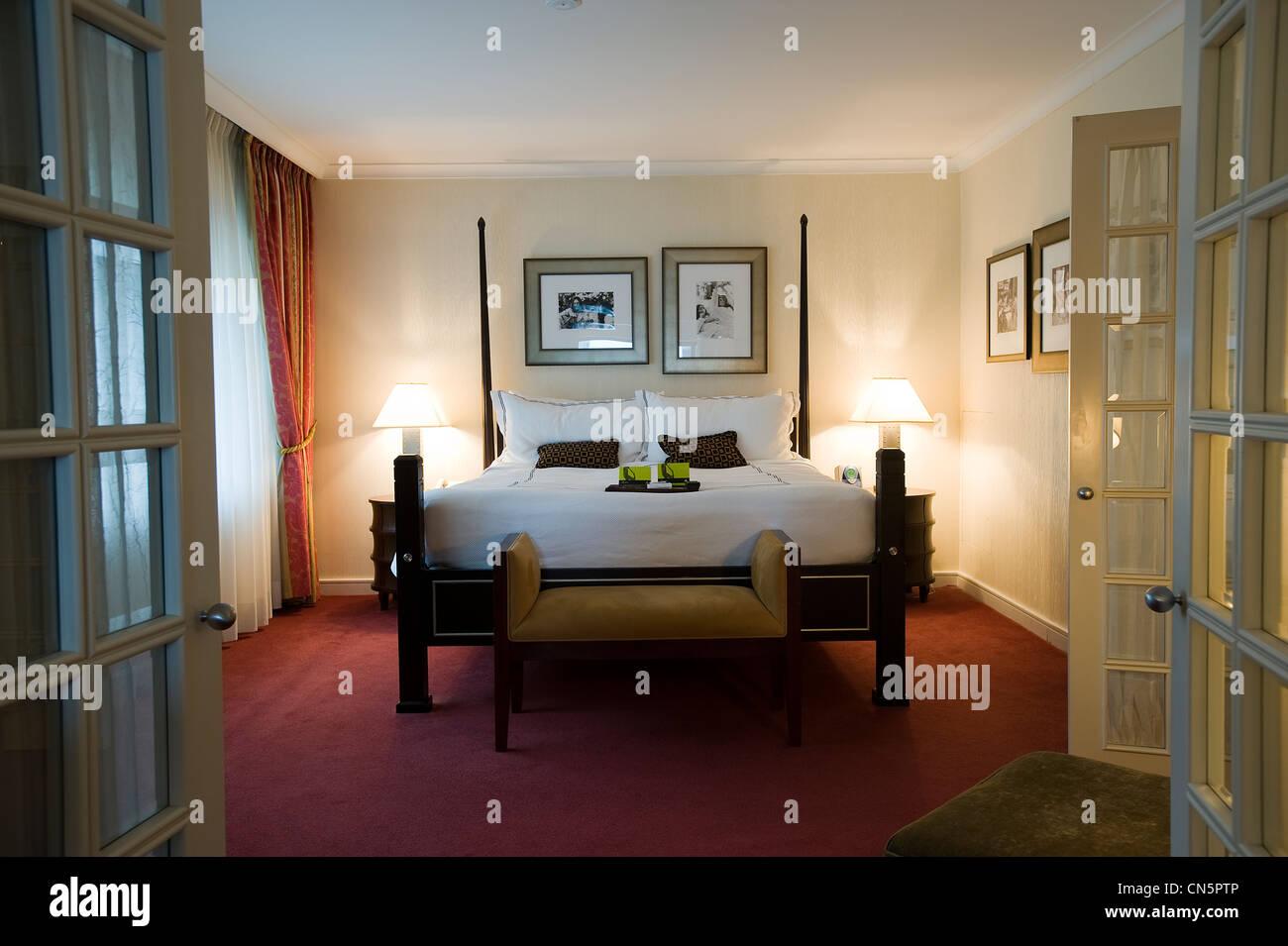 Canadá, provincia de Quebec, Montreal, el hotel Fairmont Queen Elizabeth, la habitación donde John Lennon Imagen De Stock