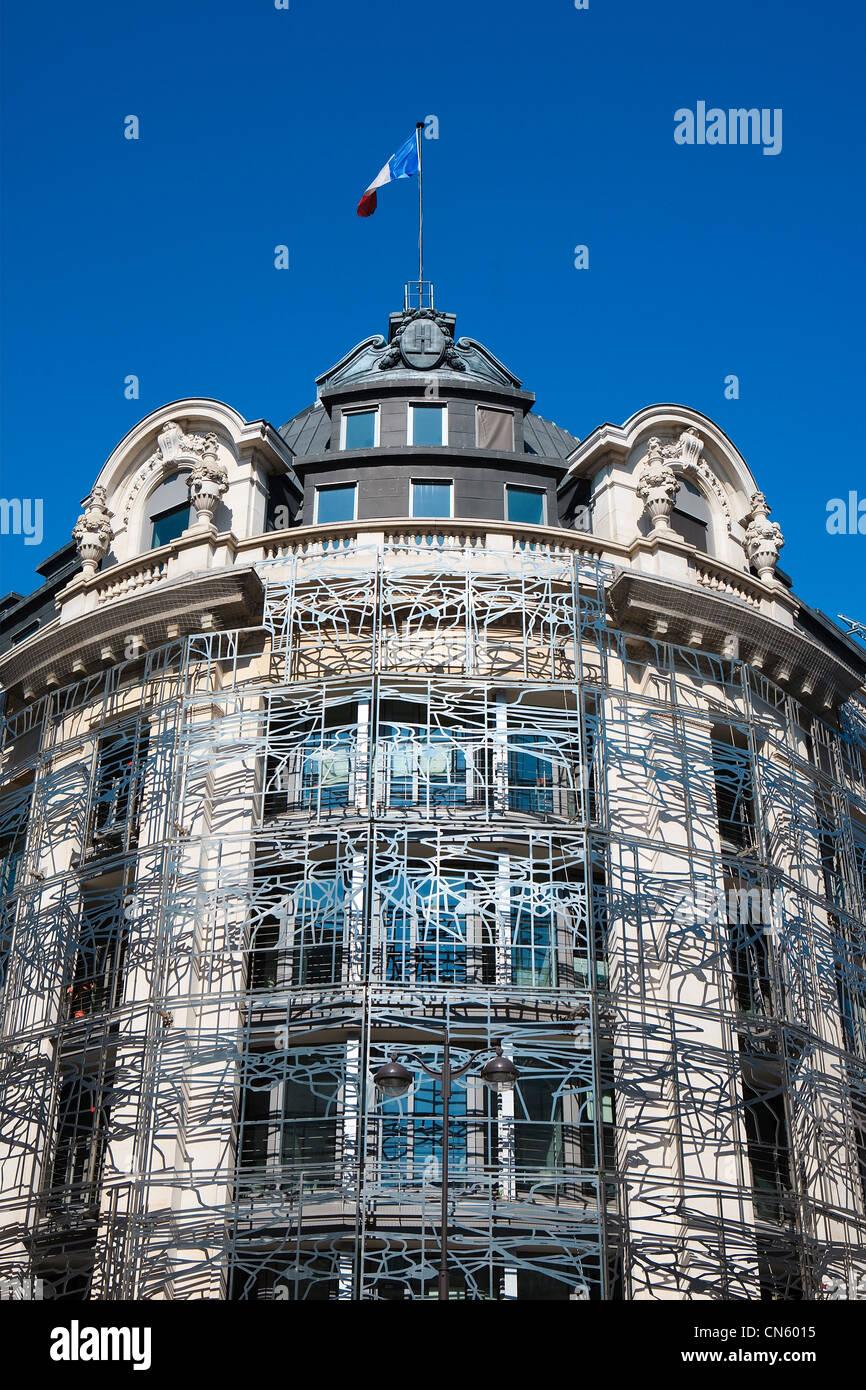 Francia, Paris, Minstry de la cultura y de la comunicación por parte de los arquitectos Francisco Soler y Frédéric Druot Foto de stock