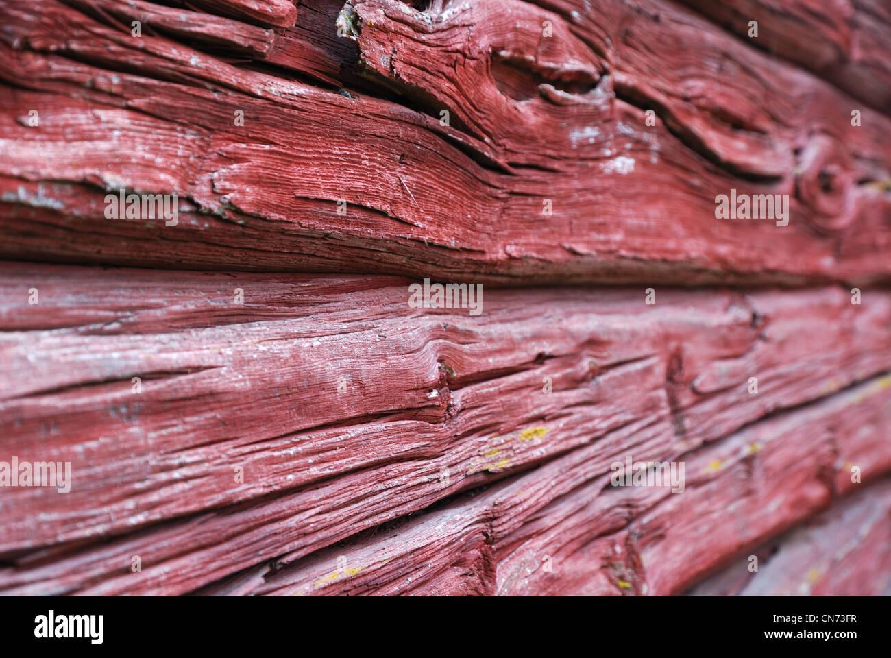 Cerca de la pared planked Imagen De Stock