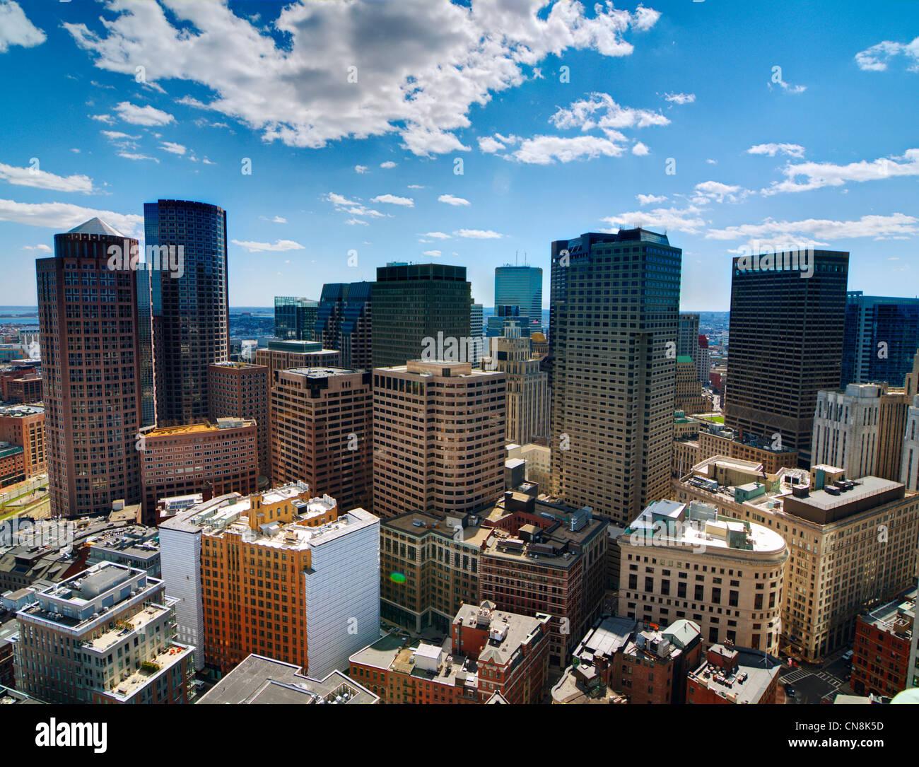 El distrito financiero de Boston, Massachusetts. Imagen De Stock