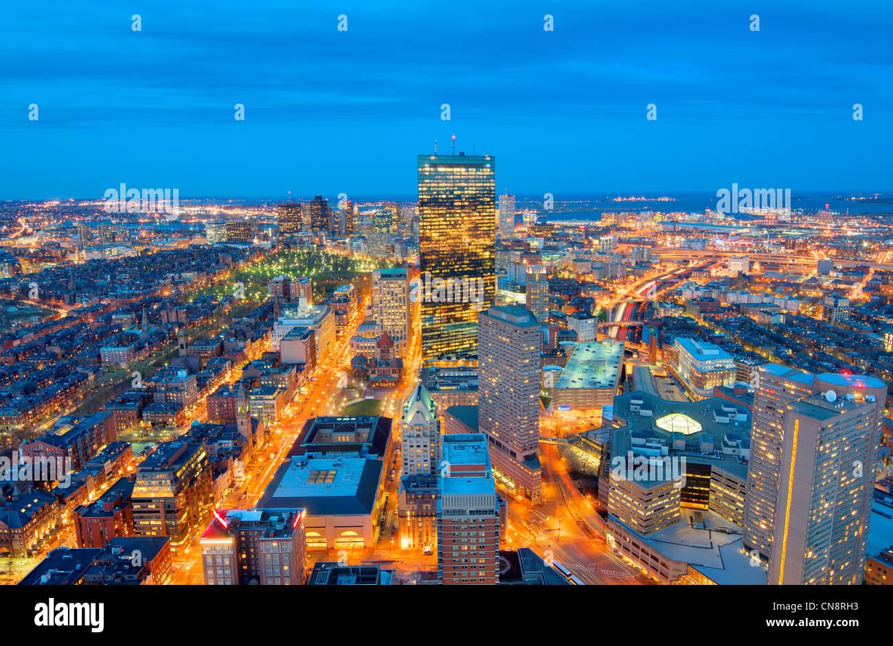 Vista aérea de la ciudad de Boston, Massachusetts, Estados Unidos. Foto de stock