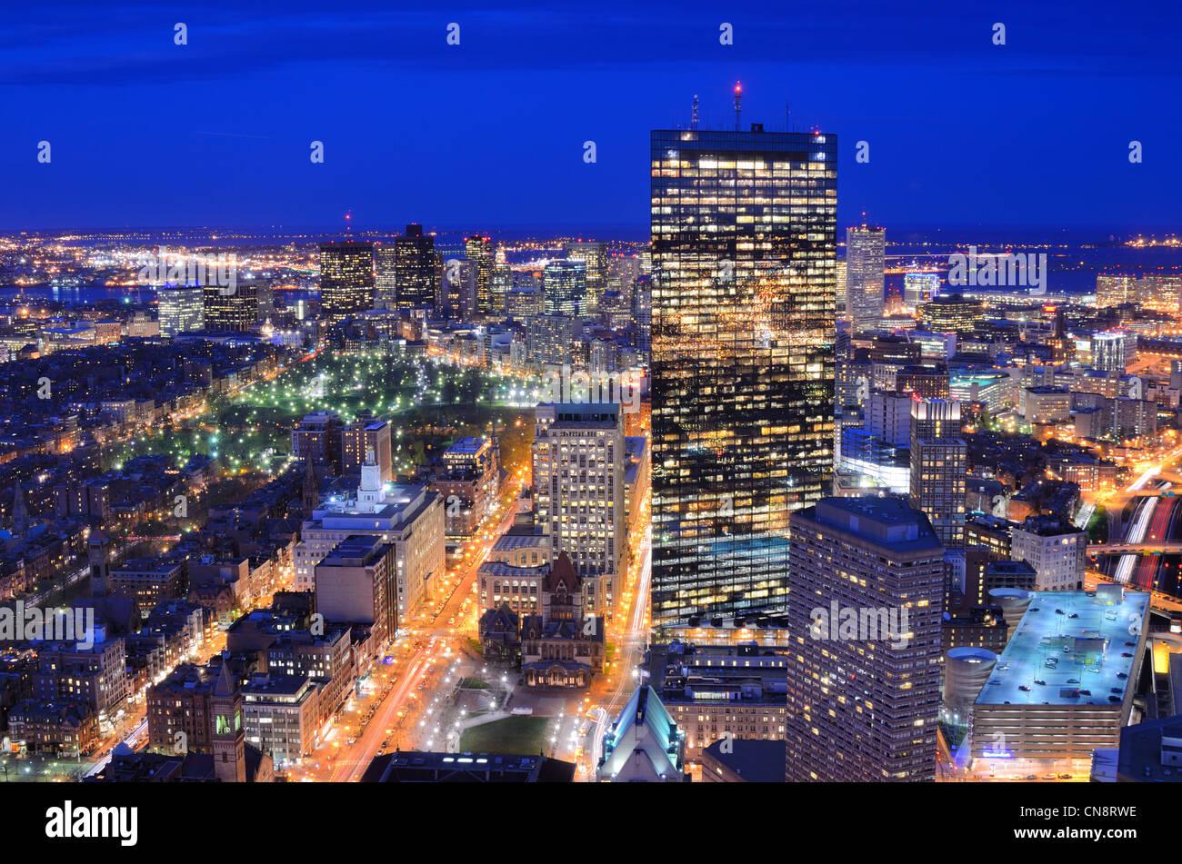 Boston, Massachusetts, EE.UU. Perfil del centro de la ciudad. Imagen De Stock