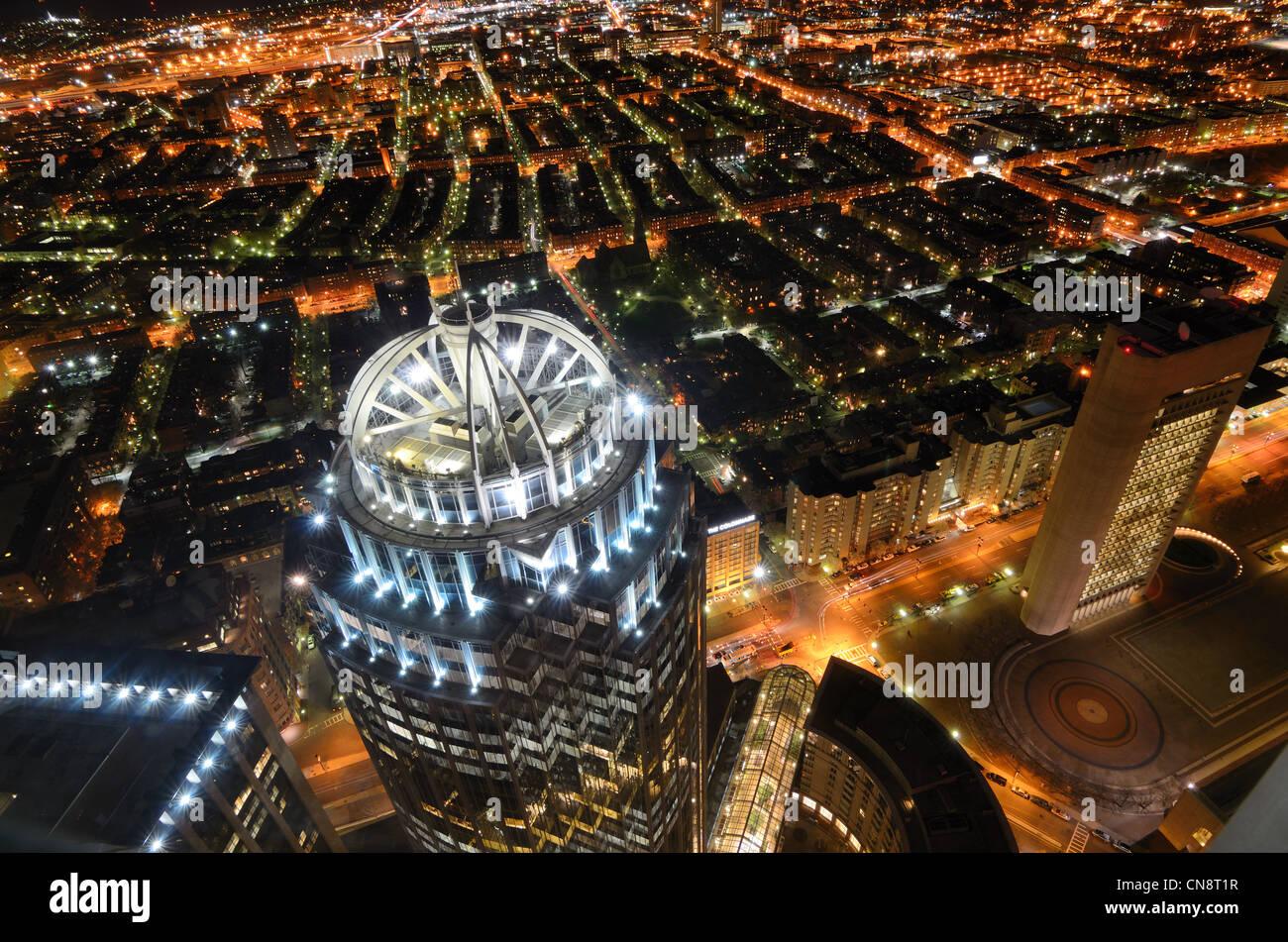 Vista aérea de Back Bay en Boston, Massachusetts, Estados Unidos. Imagen De Stock