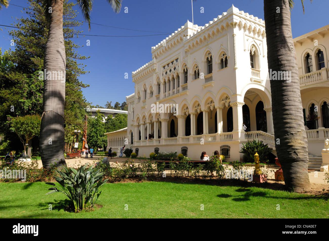 Chile, Región de Valparaíso, Viña del Mar, el Palacio Vergara en el Parque Quinta Vergara, en Viña del Mar Foto de stock