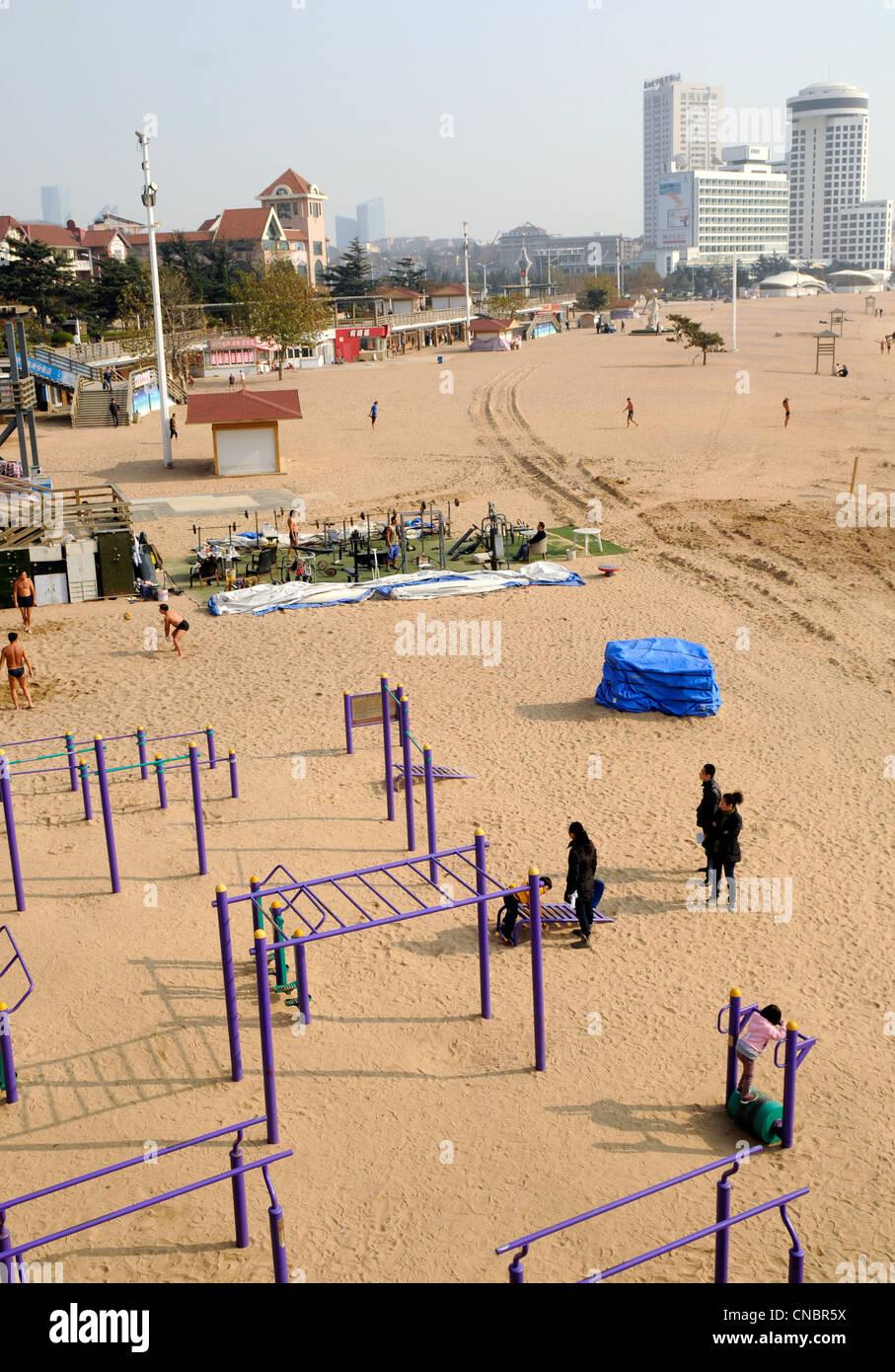 Número Uno de Qingdao Huiquan Playa (Playa), Qingdao, China Imagen De Stock