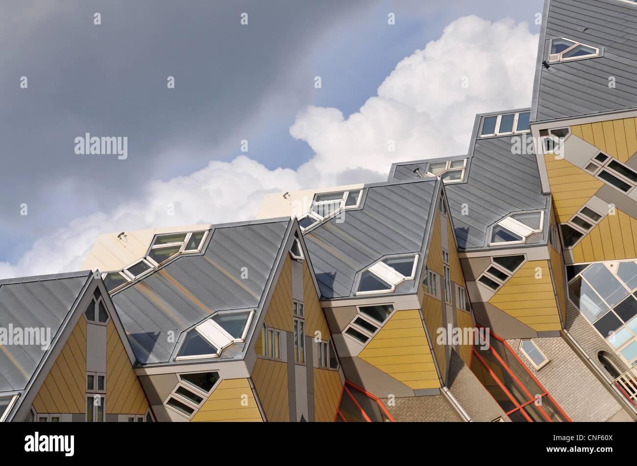 Casas cubo en Rotterdam, Países Bajos, Europa Imagen De Stock