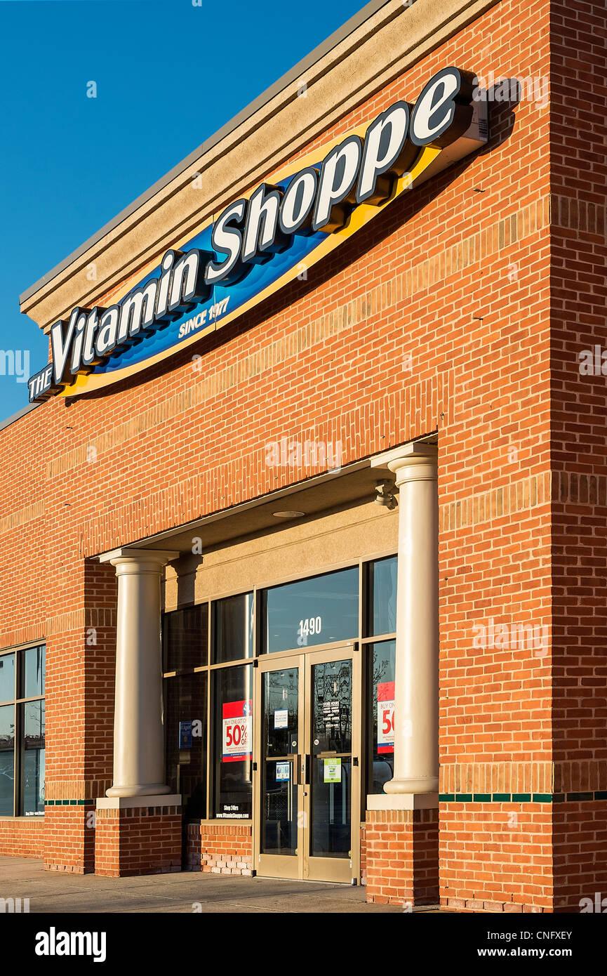 Vitamina shoppes tienda exterior. Imagen De Stock