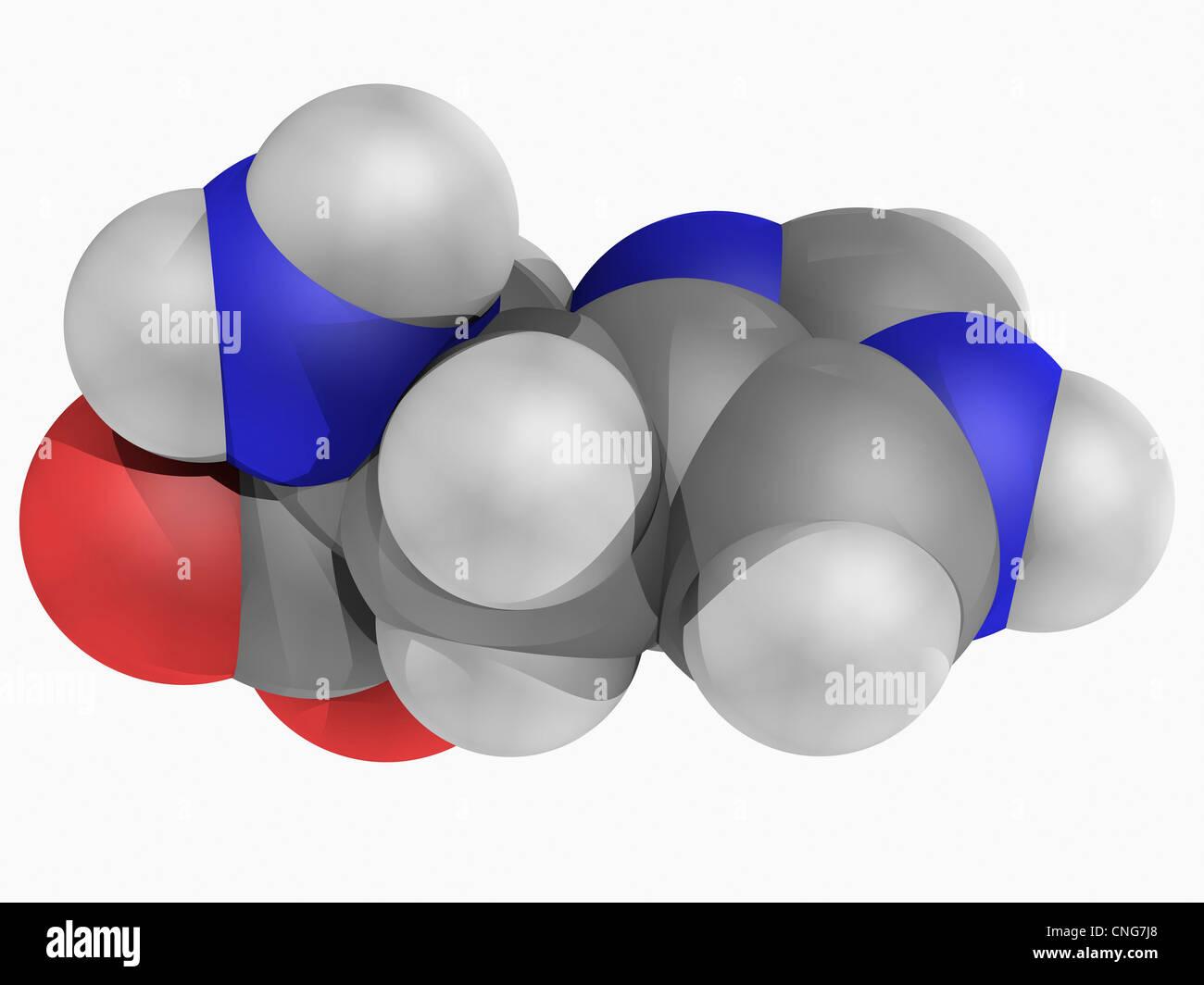 Histidina molécula Imagen De Stock