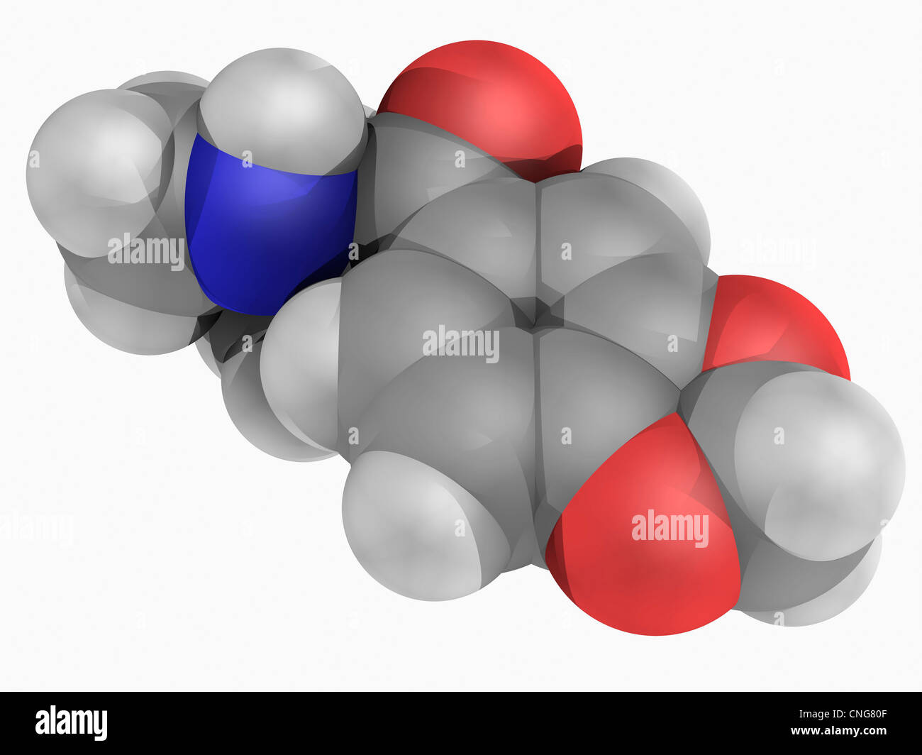 Methylone molécula de drogas Imagen De Stock