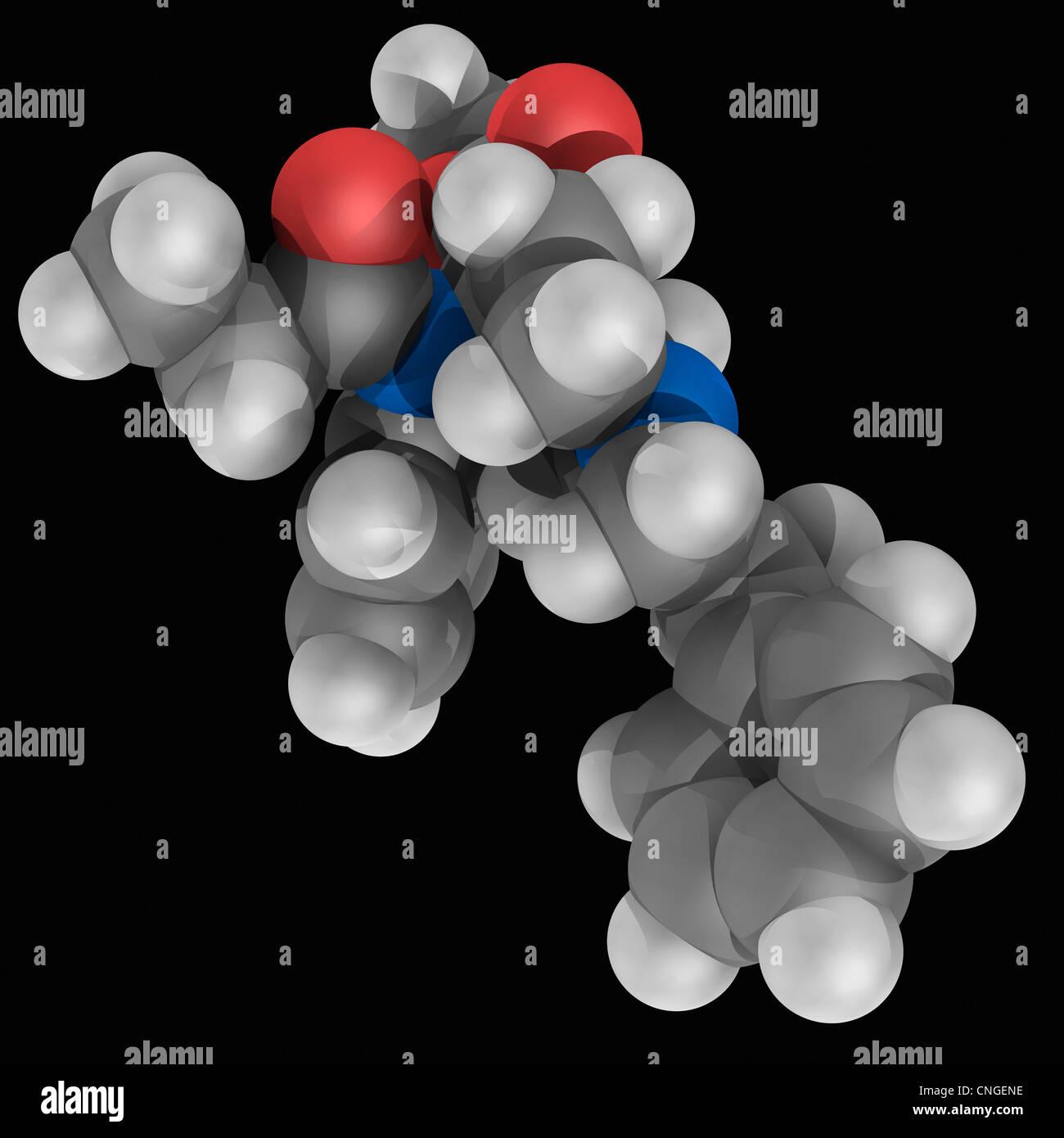 El carfentanil molécula de drogas Imagen De Stock