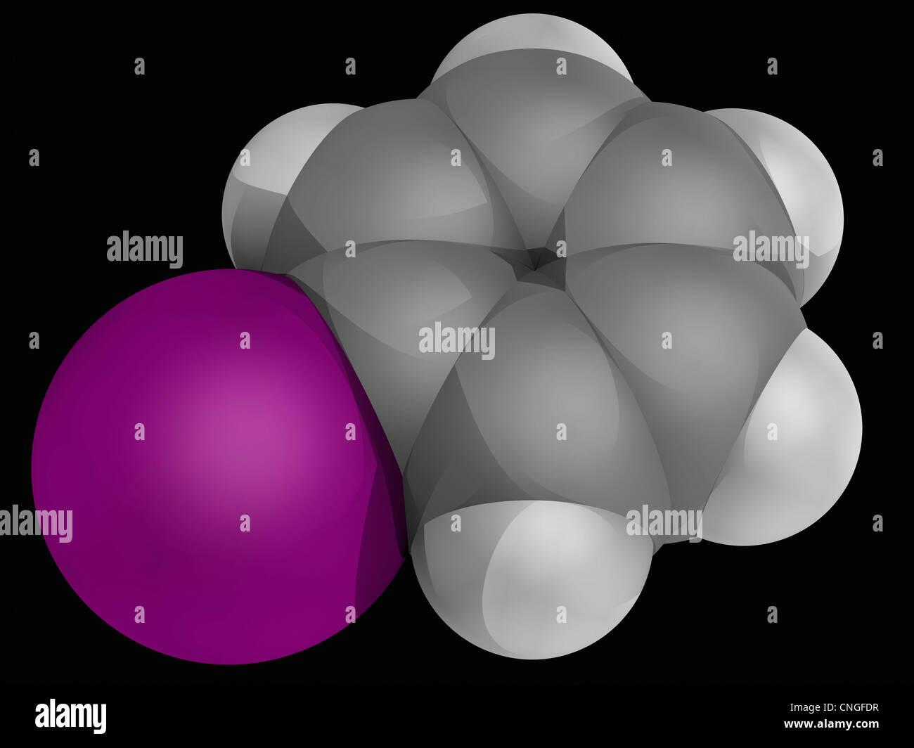 Molécula Iodobenzene Imagen De Stock