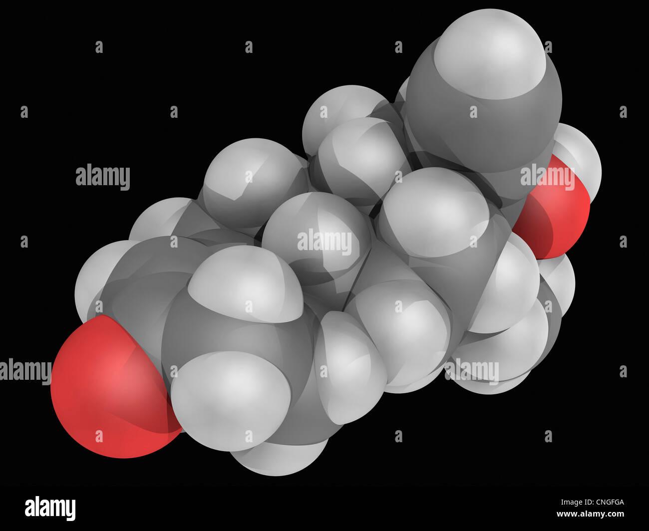 Levonorgestrel molécula de drogas Imagen De Stock
