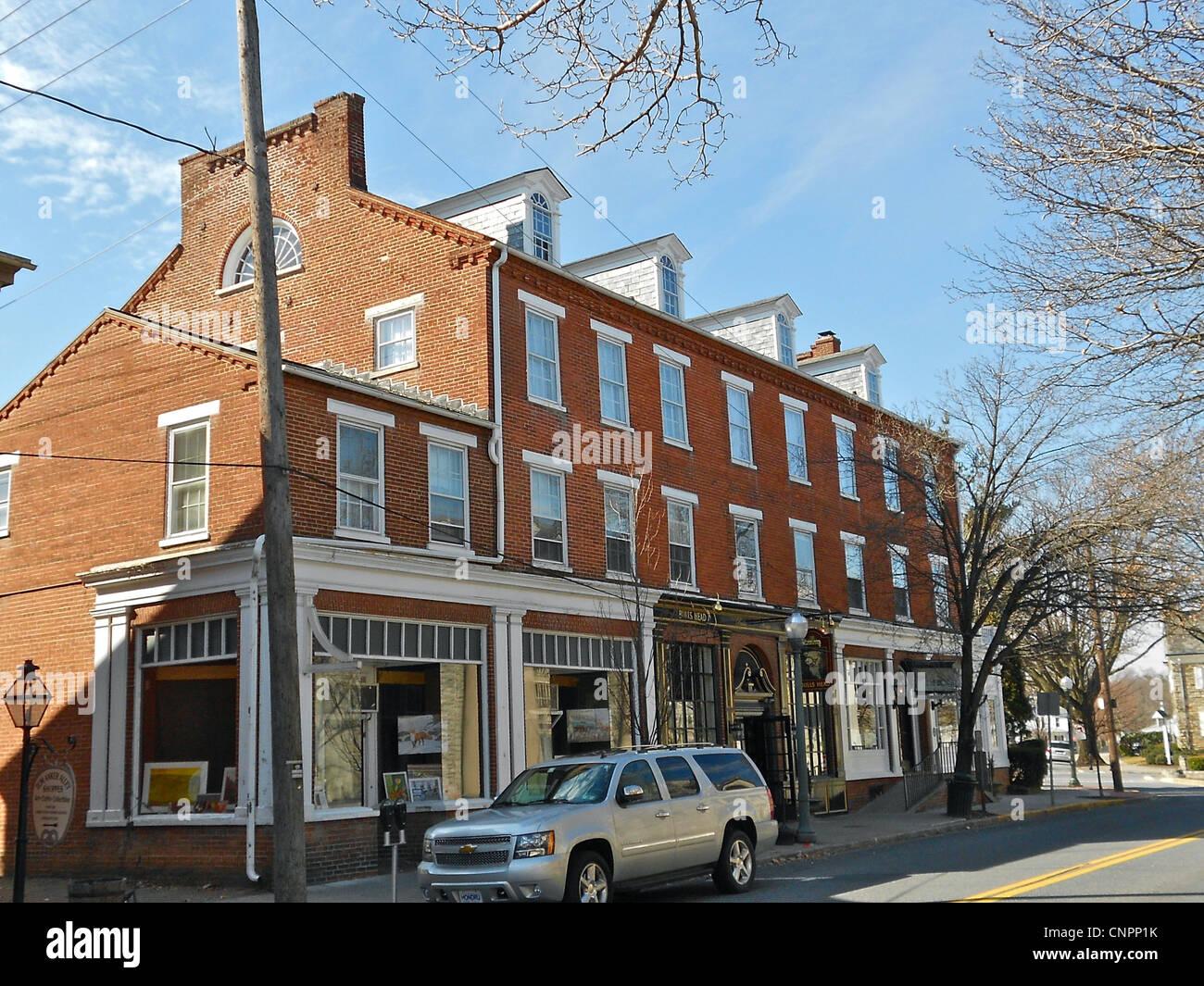 Old Inn en Lititz Pennsylvania, una vez propiedad de John Sutter. Parte de la Lititz distrito histórico en Imagen De Stock