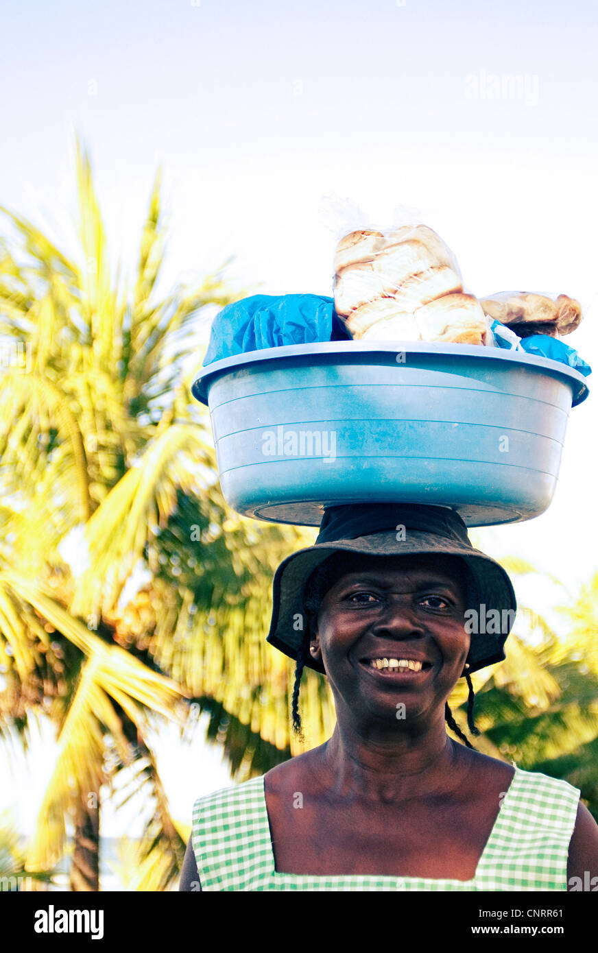 Pan de coco proveedor en Tela, Honduras. Imagen De Stock