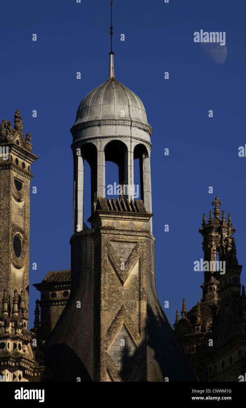 Arte renacentista. Francia. Siglo 16. Castillo de Chambord, Exterior. Detalle. El Valle del Loira. Imagen De Stock
