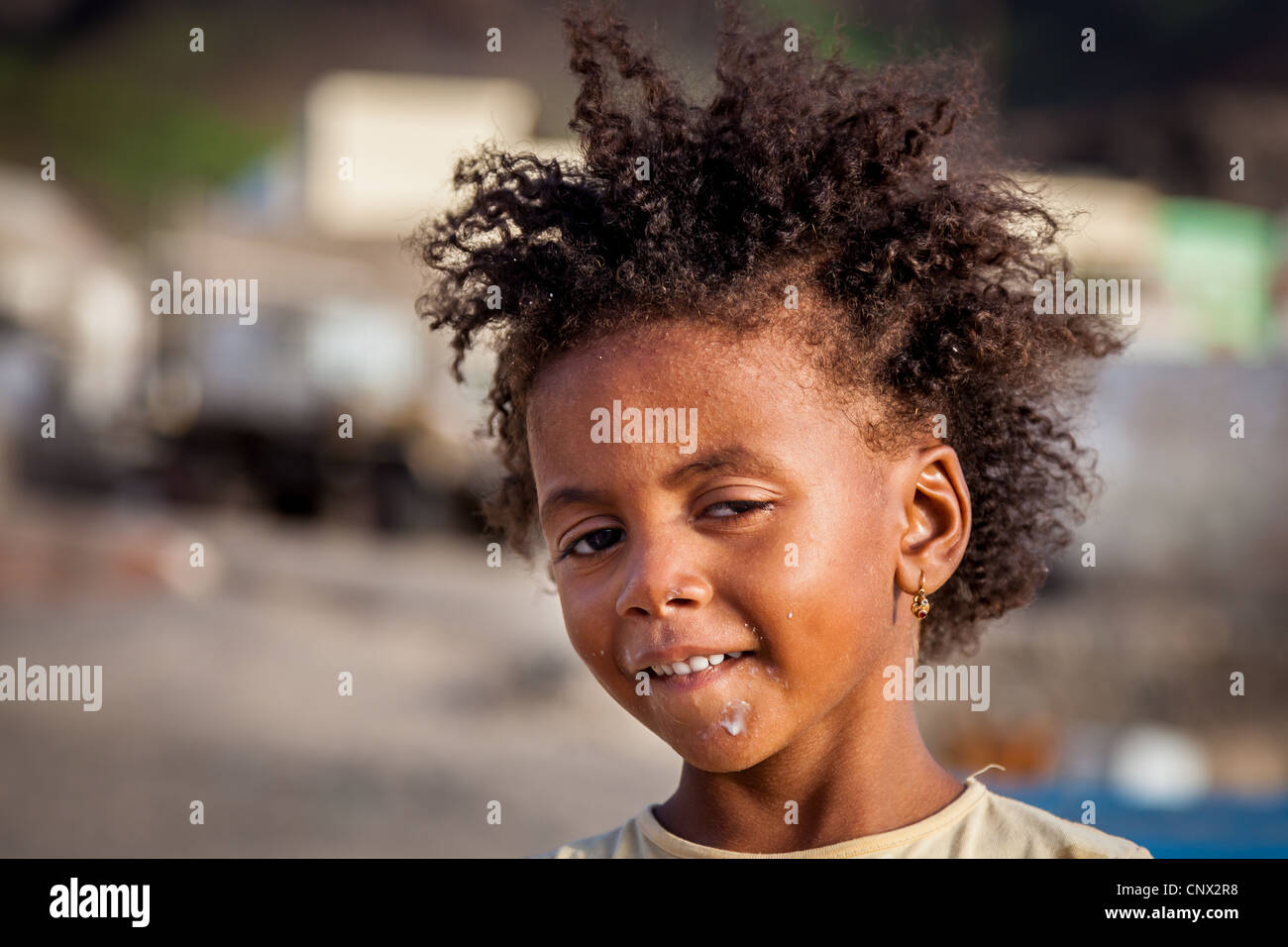 Joven de São Vicente, Cabo Verde Imagen De Stock