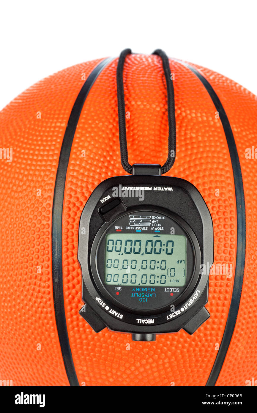 Un tema de deportes baloncesto con un cronómetro digital para su uso con la mayoría de los deportes inferencias Imagen De Stock
